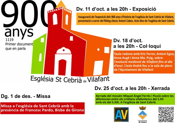 900 anys de l'església de St. Cebrià: Col·loqui
