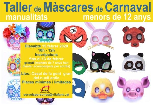 Taller de màscares 3D de Carnaval