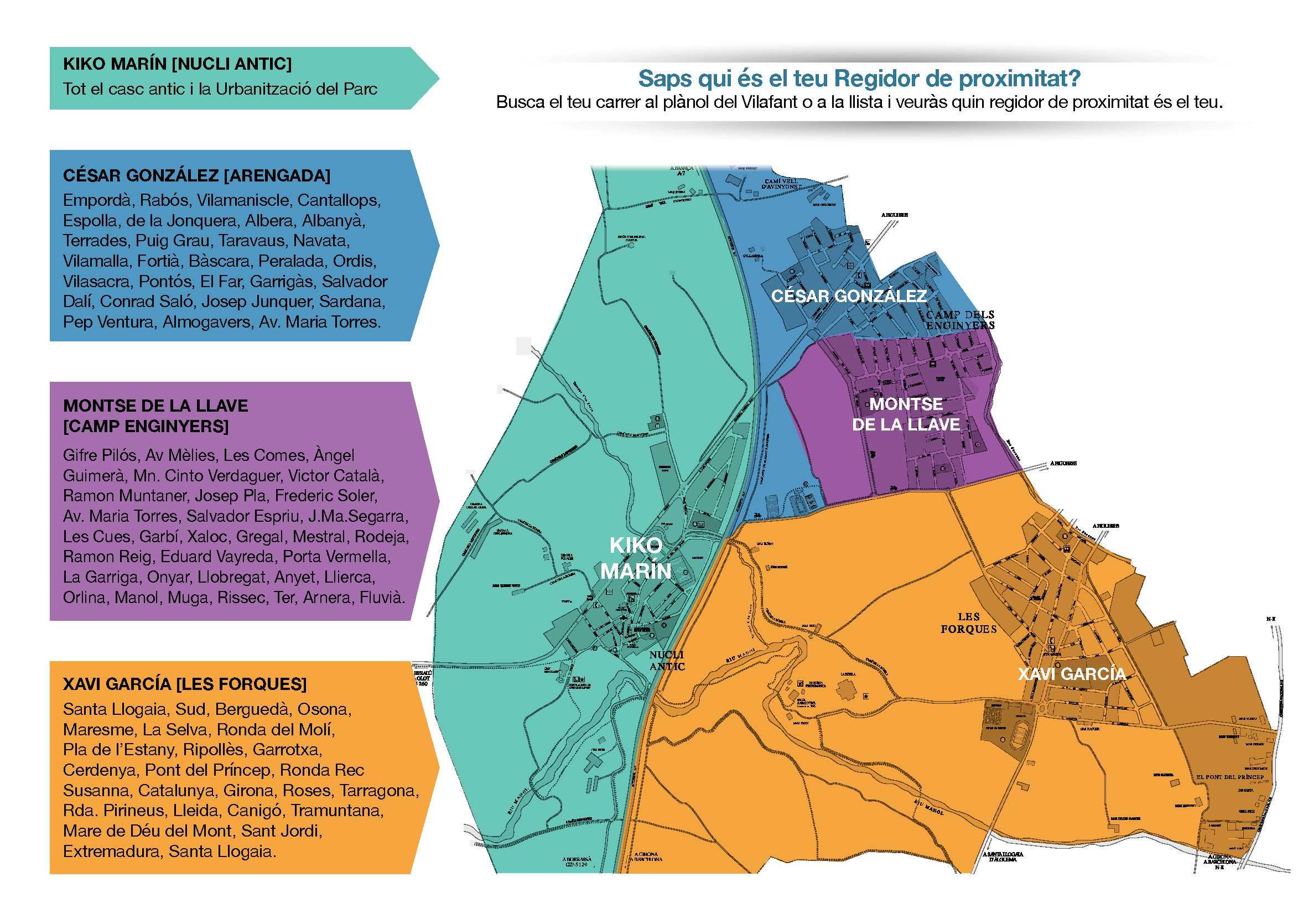 Regidoria de proximitat 2019 MAPA