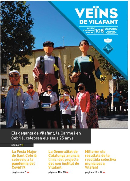 Nova revista Veïns setembre 2020