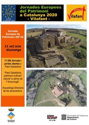 Diumenge 11 d'octubre se celebren a Vilafant les Jornades Europees del Patrimoni (JEP)