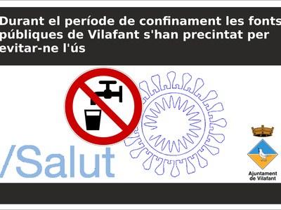 Durant el període de confinament les fonts públiques de Vilafant s'han precintat per evitar-ne l'ús