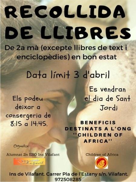 """Els alumnes de l'institut de Vilafant recullen llibres en benefici de """"Children of Africa"""""""