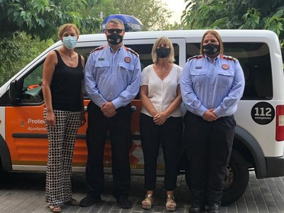 Incorporació de tres nous voluntaris de Protecció Civil a Vilafant
