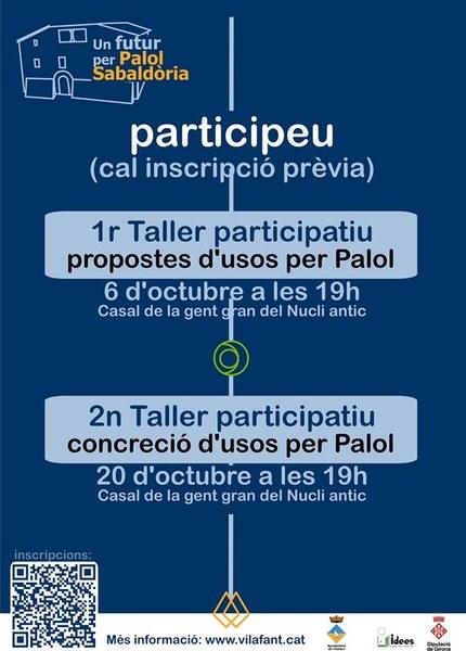 S'obren inscripcions als 2 tallers participatius dels Usos de Palol
