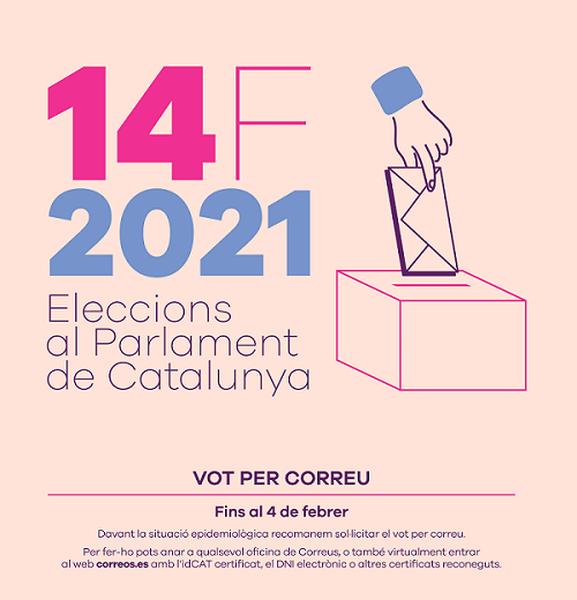 Ja es pot demanar el vot per correu-e a les eleccions del 14F