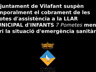 L'Ajuntament suspèn, temporalment, el cobrament de les quotes de la llar municipal d'infants, Les 7 Pometes