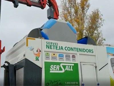 Neteja periòdica dels contenidors de recollida selectiva - Vilafant