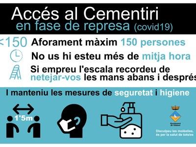 Normes d'accés al cementiri municipal