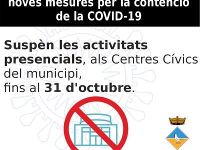 Noves mesures de contenció de la Covid-19