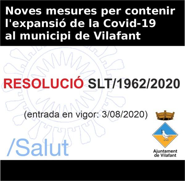 Noves mesures per contenir l'expansió de la Covid-19 al municipi de Vilafant