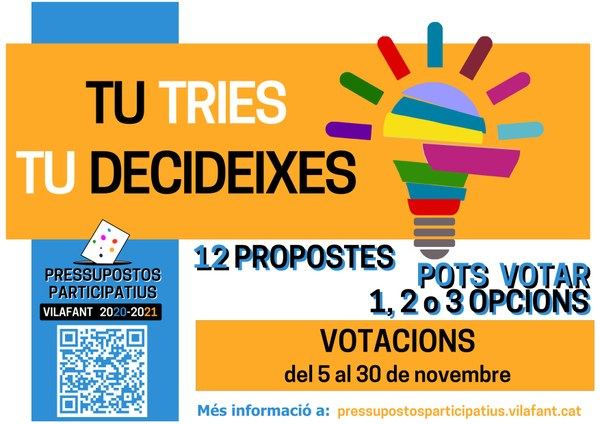 Pressupostos Participatius, inici de votacions, 5 de novembre