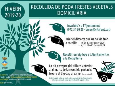 Recollida de poda 2019/2020 (i restes vegetals domiciliària)