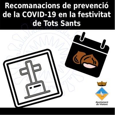 Recomanacions de prevenció de la COVID-19 en la festivitat de Tots Sants