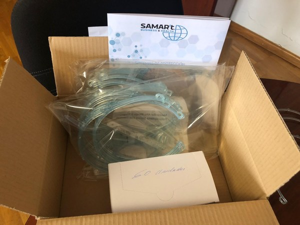 L'empresa vilafantenca, SAMAR'T, dona 60 pantalles de protecció facial a l'Ajuntament