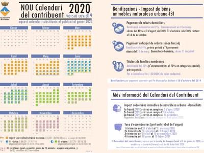 S'aprova la modificació del Calendari del Contribuent 2020