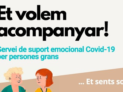 Servei telefònic de suport emocional Covid-19 per a la gent gran