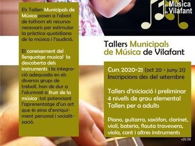 S'obren inscripcions als Tallers Municipals de Música de Vilafant